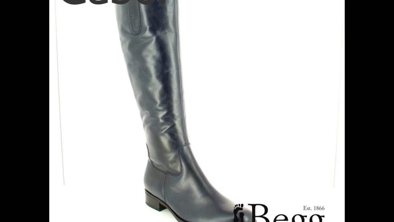 Gabor Brook Med Leg 51 649 36 Navy long boots