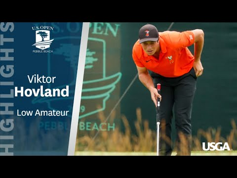 Viktor Hovland sets scoring record for an amateur at US Open
