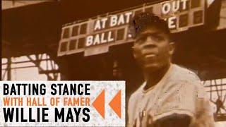 Willie Mays Batting Stance