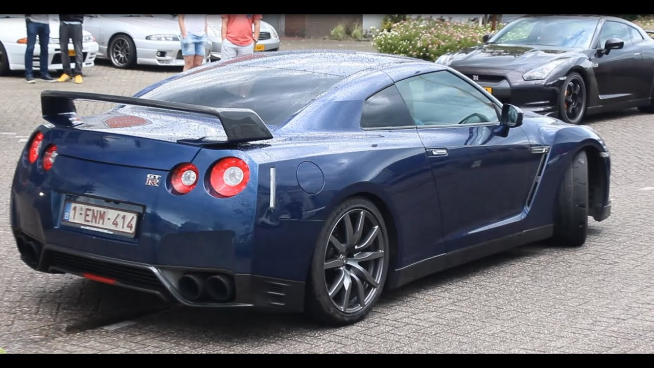 Nissan R35 GT R U0026 R33 Skyline GTR Accelerations (+Anti Lag, Exhaust Sound,  Backfires). Lars Mars Cars