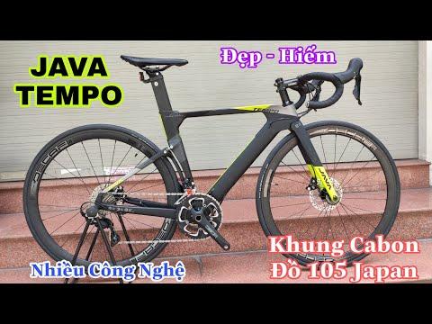 Java Tempo | Hàng đẹp và Hiếm  Khung cacbon + Đồ 105 + Phanh đĩa dầu | Nguyên Thùng