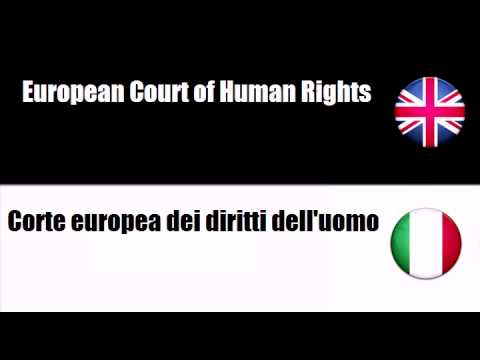 LEARN ITALIAN WORDS - Court of Justice of the European Communities
