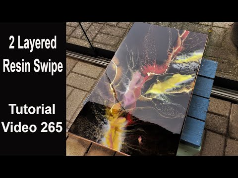 Resin Swipe Technique/ full tutorial/ Swiping on 2 Layers