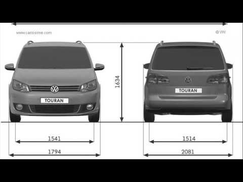 volkswagen touran dimensions youtube. Black Bedroom Furniture Sets. Home Design Ideas