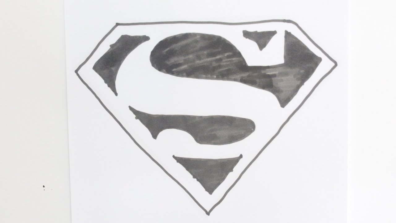 Drawing How To Draw The Superman Logo Step By Step Easy Youtube