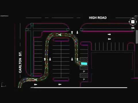 Car park swept path analysis 2D - YouTube