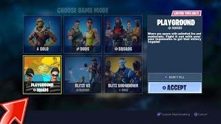 NEW PLAYGROUND LTM GAMEMODE GAMEPLAY LIVE AND NEW LEAKED SKINS (FORTNITE BATTLE ROYALE) COMING SOON