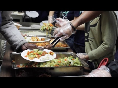 Hunger Project interacts with tenants at Hollywood homeless shelter
