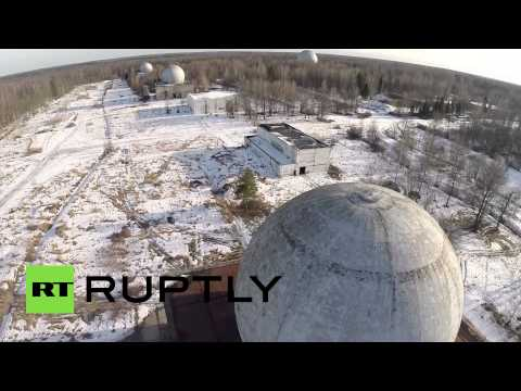 DRONE over secret Moscow missile defense radar base EXCLUSIVE