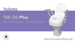Produktvideo zu Drive Medical Toilettensitzerhöhung TSE 120 Plus mit innovativer Befestigung