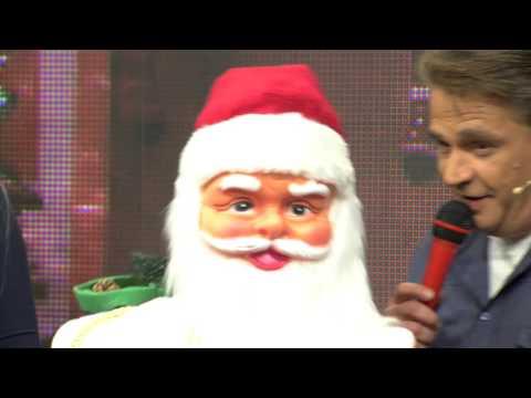 infactory Singender & tanzender XXL Weihnachtsmann mit Karaoke, 150 cm