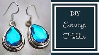 ♥DIY Jewlry Organizer: DIY Earring Holder Easy ♥ Tutorial | DIY | Splendid DIY