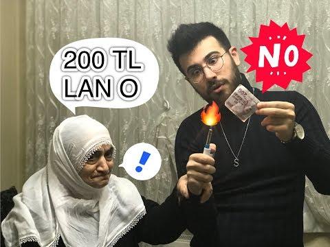EVİN ORTASINDA 200 TL YAKTIM ! |  ANANE...
