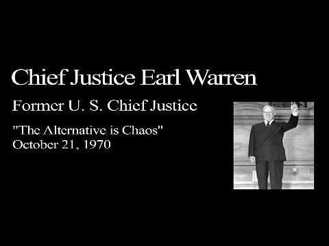 Landon Lecture | Earl Warren - audio only