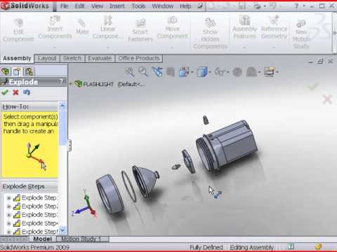 Create an exploded view with SolidWorks 2011