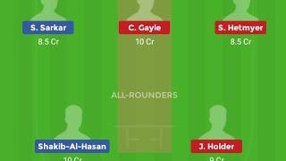world cup match no 23 westindies vs bangladesh dream 11 teams||ban vs wi dream 11 teams