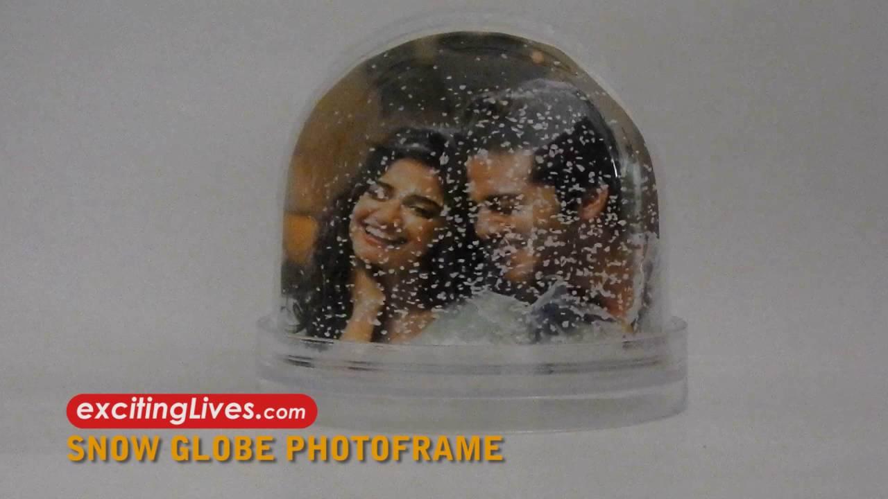 Snow Globe Photo frame - YouTube