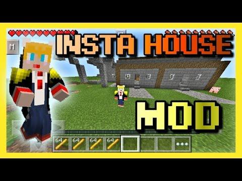 [0.12.3] มอดบ้านกึ่งสำเร็จรูป - Insta House Mod   Minecraft PE 0.12.3