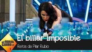 Pilar Rubio hace un truco de billar  imposible en la visita de Sergio Ramos - El Hormiguero 3.0