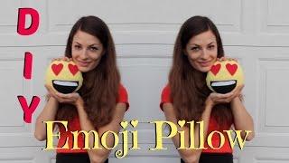 Diy Emoji Pillow - Easy No Sew Tutorial