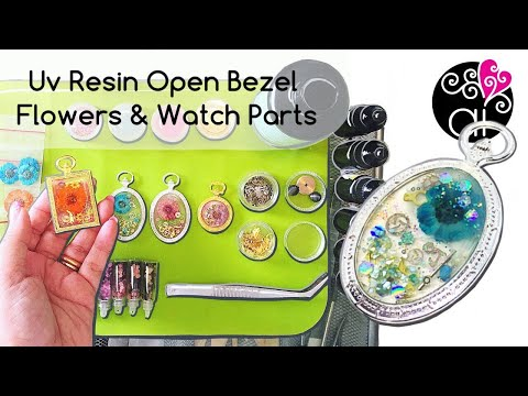 UV Resin Tutorial | Dried Flowers & Watch Parts in Open Bezel