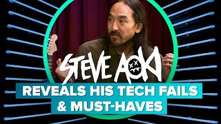 Steve Aoki reveals his tech fails and must-haves