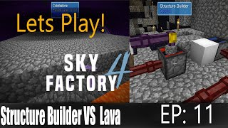 Minecraft Sky Factory 4 Ep 11: Structure Builder our Savior!