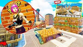 The GOD HIDING SPOT In Fortnite Battle Royale! | CUSTOM HIDE & SEEK Custom Gamemode!