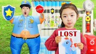 마슈 경찰 출동! 잃어버린 유니콘을 찾아주세요~ Mashu Pretend Play Police with Police Toy - 마슈토이 Mashu ToysReview