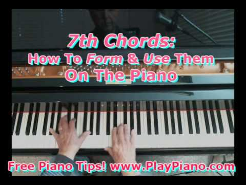 7th Chords How To Form Play Them On The Piano Youtube