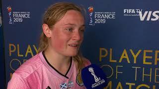 Erin Cuthbert – Player of the Match – Scotland v Argentina