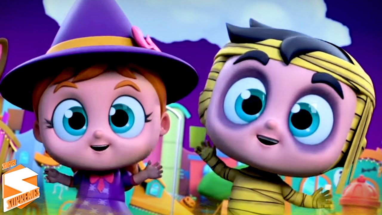 Batida de halloween | Canções de dia das bruxas | Kids Tv em Português | Poemas para crianças