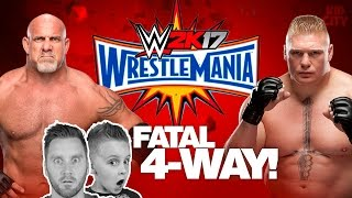 Wrestlemania Match! Goldberg vs Brock Lesnar vs KIDCITY | Let's Play WWE 2k17