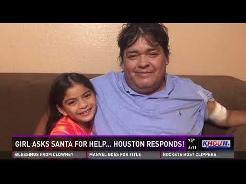 Little girl asks Santa to rebuild roof damaged in Harvey