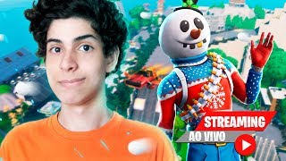NOVA SKIN DO BONECO DE NEVE E CRIATIVO COM INSCRITOS - DBRSTREAM ( FORTNITE )