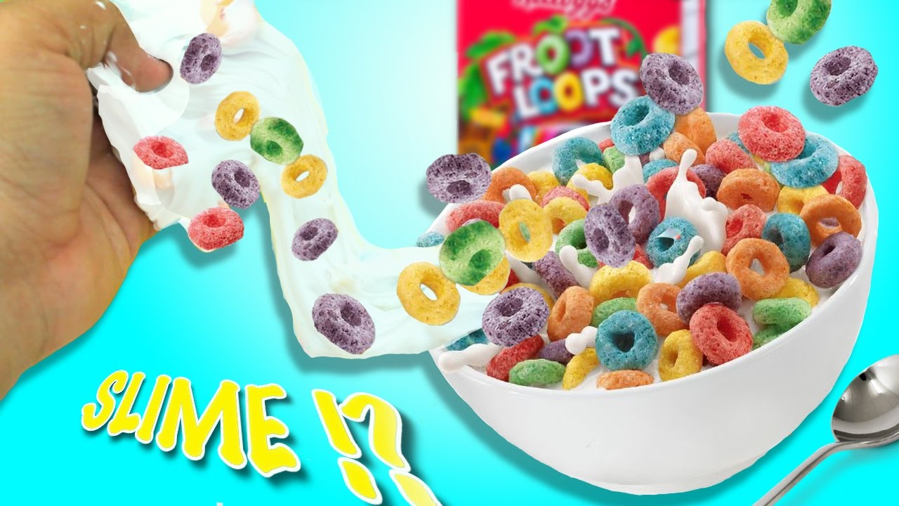 Diy froot loops slime how to make slime out of cereal how to make slime out of cereal instagram slime cereal slime ccuart Image collections