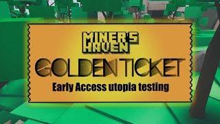 Miner es Haven GOLD TICKET Raffle + Update Vorschau (Roblox)