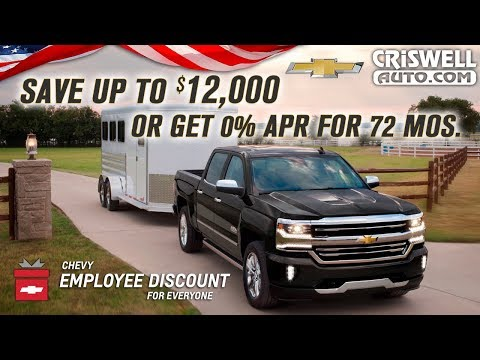 Up to $12,000 off a New Silverado or 0% APR for 72 Months