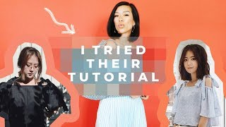 I TRIED THEIR DIY: off the shoulder bow tie top | WITHWENDY