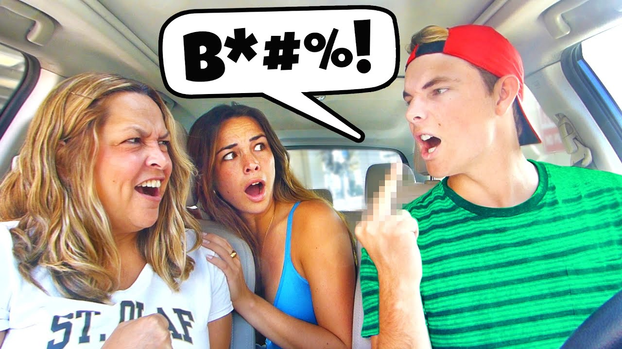 """CALLING MY MOM THE """"B"""" WORD PRANK... *GONE WRONG*"""