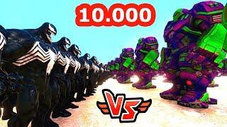 10.000 VENOM VS 10.000 HULKBUSTER 😱 - Süper Kahramanlar