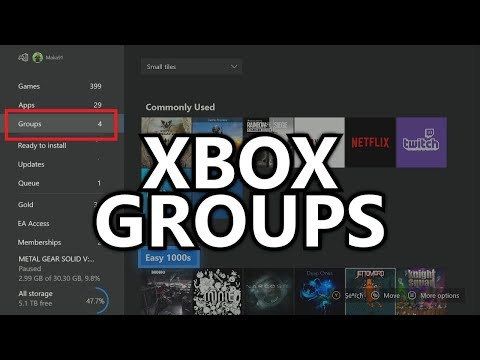 """Groups on Xbox Dashboard - """"Groups"""" Feature - Sorting Games into Folders (Xbox Insiders - May 2018)"""