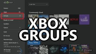 "Groups on Xbox Dashboard - ""Groups"" Feature - Sorting Games into Folders (Xbox Insiders - May 2018)"