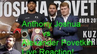 Anthony Joshua vs Alexander Povetkin Live Reaction Stream!
