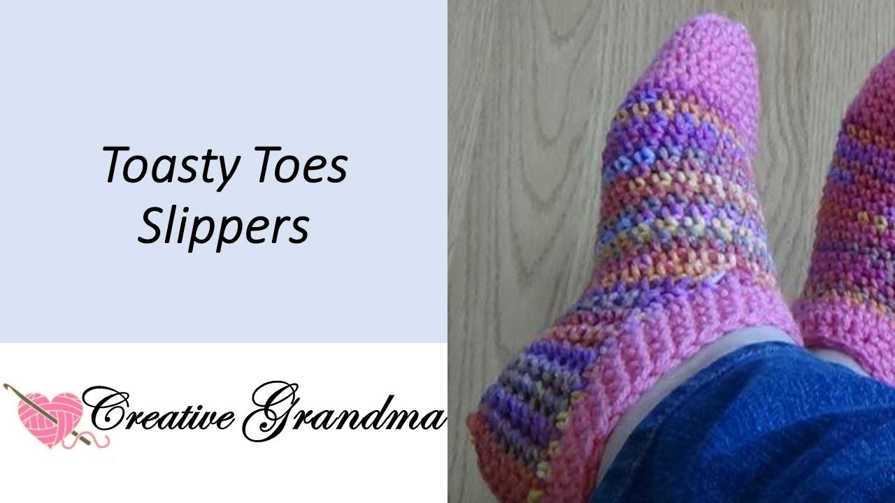 Toasty Toes Slipper Socks Easy Free Pattern At End Of Video Youtube