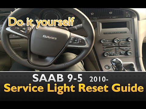 2009 saab 9-5 service reset