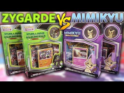 Zygarde VS Mimikyu! Pokemon Card Pin Collection Box Battle!
