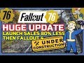 FALLOUT 76 Update Bigger Than The Game! Disappointing Sales? Nukes Crash Servers!