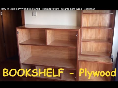 How to Build a Plywood Bookshelf - Room furniture ...