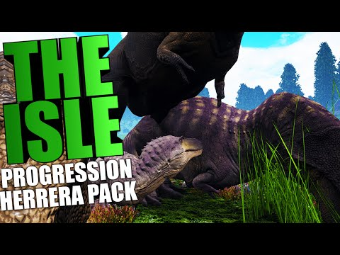 The Isle - PROGRESSION SYSTEM, HERRERASAURUS PACK, JUVENILE REX (The Isle Funny Moments Gameplay)
